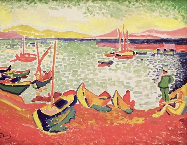 Boats in the Harbour at Collioure, 1905 (oil on canvas), Andre Derain (1880-1954) / Private Collection