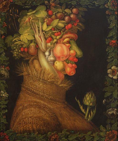 Summer, 1573 (oil on canvas), Giuseppe Arcimboldo (1527-93) / Louvre, Paris, Franc