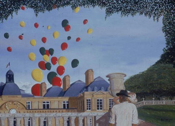 Palais du Luxembourg, 1998 (oil on canvas), Boissegur (Contemporary Artist) / Private Collection / © Beatrice Boissegur