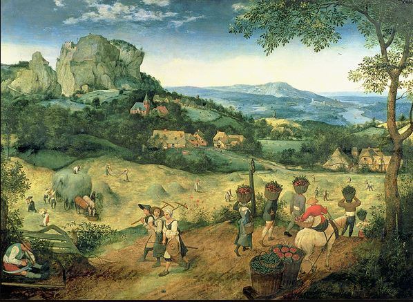 Haymaking, possibly the months of June and July, 1565 (oil on panel), Pieter Brueghel the Elder (c.1525-69) / Lobkowicz Palace, Prague Castle, Czech Republic