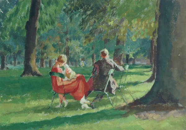 Kensington Gardens (oil on canvas)