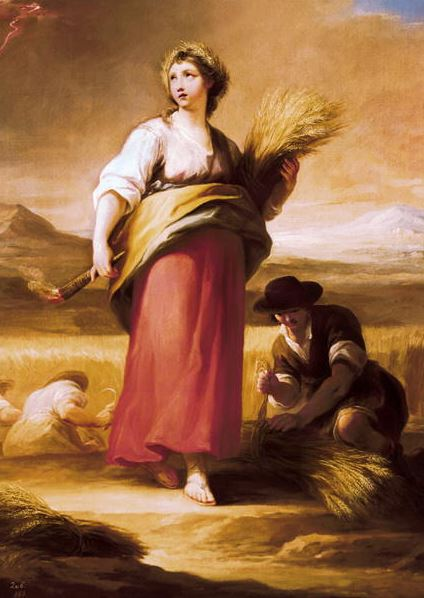 Allegory of Summer, c.1792 (oil on canvas), Mariano Salvador de Maella (1739-1819) / Prado, Madrid, Spain / Photo © AISA