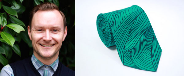Right - David Price‐Hughes International Sales Manager, London Left - Tie  by Laurie Hastings on CultureLabel.com