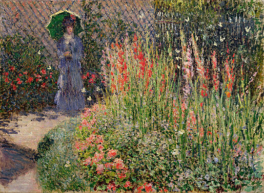 Rounded Flower Bed (Corbeille de fleurs), 1876 (oil on canvas)