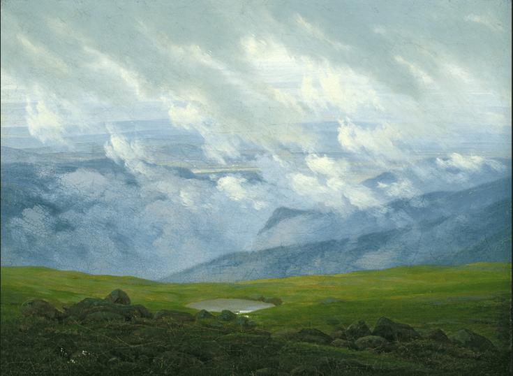 Drifting Clouds (oil on canvas), Friedrich, Caspar David (1774-1840) / Hamburger Kunsthalle, Hamburg, Germany