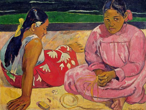 Women of Tahiti, On the Beach, 1891 (oil on canvas), Paul Gauguin (1848-1903) / Musee d'Orsay, Paris, France