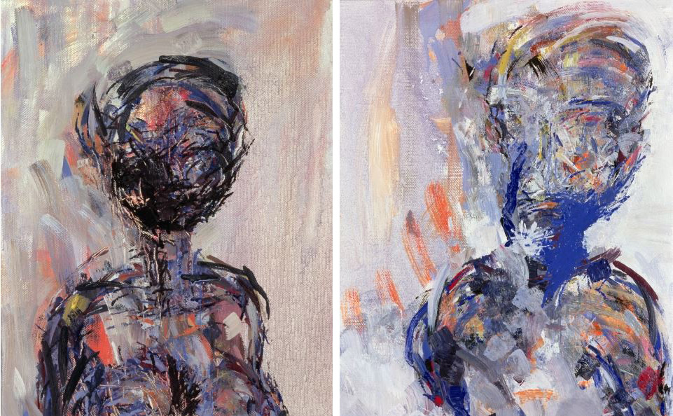 iman-bowie-diptych-portrait-portraits-painting-20th-century-stephen-finer-contemporary