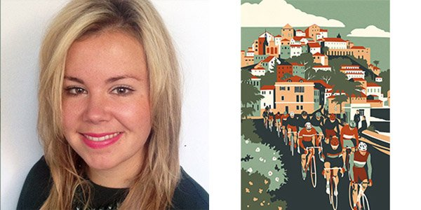 Left: Lucy Innes Williams- Bridgeman Artists Manager Right: Limited Edition Screenprint Milan- San Remo, Eliza Southwood 2015