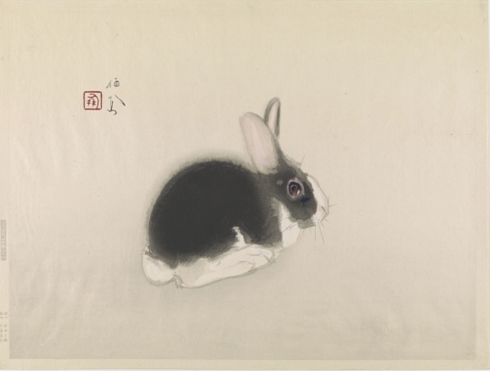 Rabbit (colour woodblock print), Takeuchi Seiho (1864-1942) / Freer Gallery of Art, Smithsonian Institution, USA / Robert O. Muller Collection
