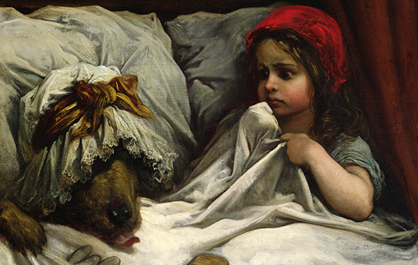 Little Red Riding Hood, c.1862, Gustave Dore (1832-83) / National Gallery of Victoria, Melbourne / Gift of Mrs S Horne / Bridgeman Images