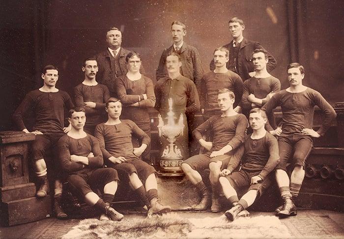 Renton F.C., 1888/9 (b/w photo), English School / National Football Museum, Manchester, UK