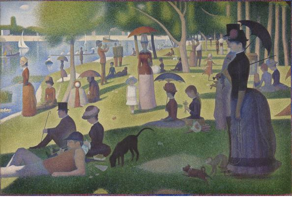 A Sunday on La Grande Jatte, 1884-86 (oil on canvas) , Georges Pierre Seurat (1859-91) / The Art Institute of Chicago, IL, USA / Helen Birch Bartlett Memorial Collection