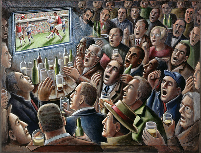 PJC264424 The Adoration, 2006 (acrylic on canvas) by Crook, PJ; 101.6x132 cm; Private Collection; English, in copyright PLEASE NOTE: Bridgeman Images represents the copyright holder of this image and can arrange clearance.
