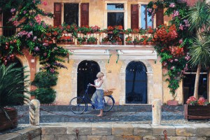 Limone, Lake Garda, Italy, 2003 (oil on canvas), Trevor Neal (Contemporary Artist) / Bridgeman Images