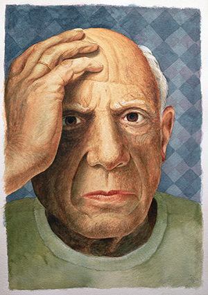 Picasso (1881-1973) , Trevor Neal (Contemporary Artist) / Bridgeman Images