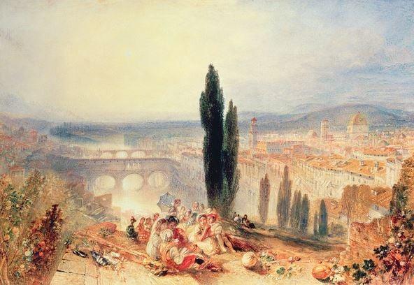Florence from near San Miniato, 1828, Joseph Mallord William Turner (1775-1851) / British Museum, London, UK
