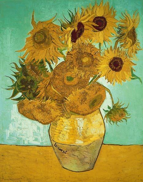 Sunflowers, 1888 (oil on canvas), Vincent van Gogh (1853-90) / Neue Pinakothek, Munich, Germany