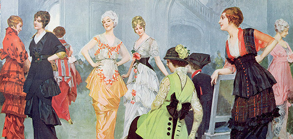 Fashion Show at the Maison Beer, March 1914, Rene Lelong / Bibliotheque des Arts Decoratifs / Archives Charmet / Bridgeman Images