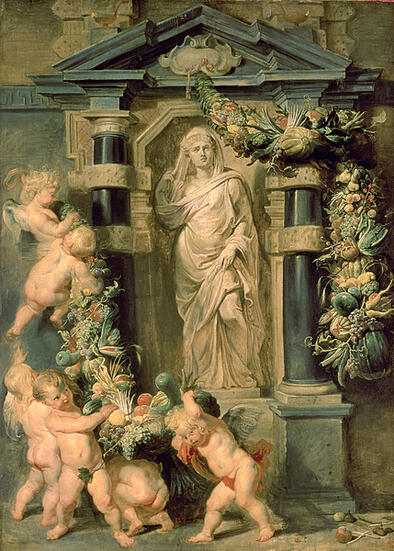 Statue of Ceres, c.1615 (oil on panel)