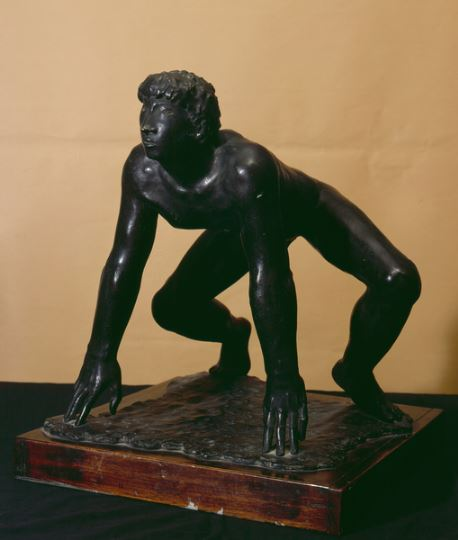 arturo-martini-sculpture-runner-bronze-italian