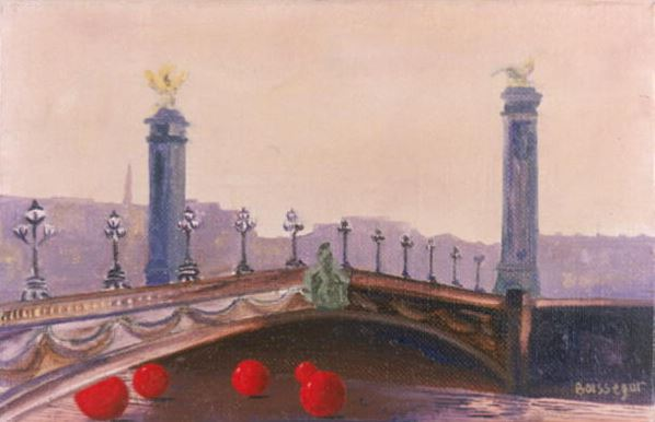 Le Pont des Invalides, 2000 (oil on canvas), Boissegur (Contemporary Artist) / Private Collection / © Beatrice Boissegur