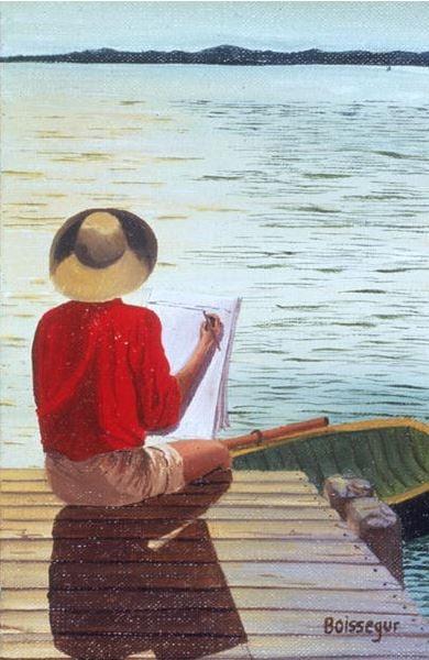 George Paints (oil on canvas), Boissegur (Contemporary Artist) / Private Collection / © Beatrice Boissegur