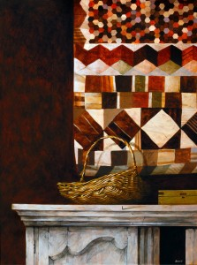 Hanging Quilt, 2006 (acrylic on canvas), Ron Bone (1950-2011) / Private Collection / Bridgeman Images