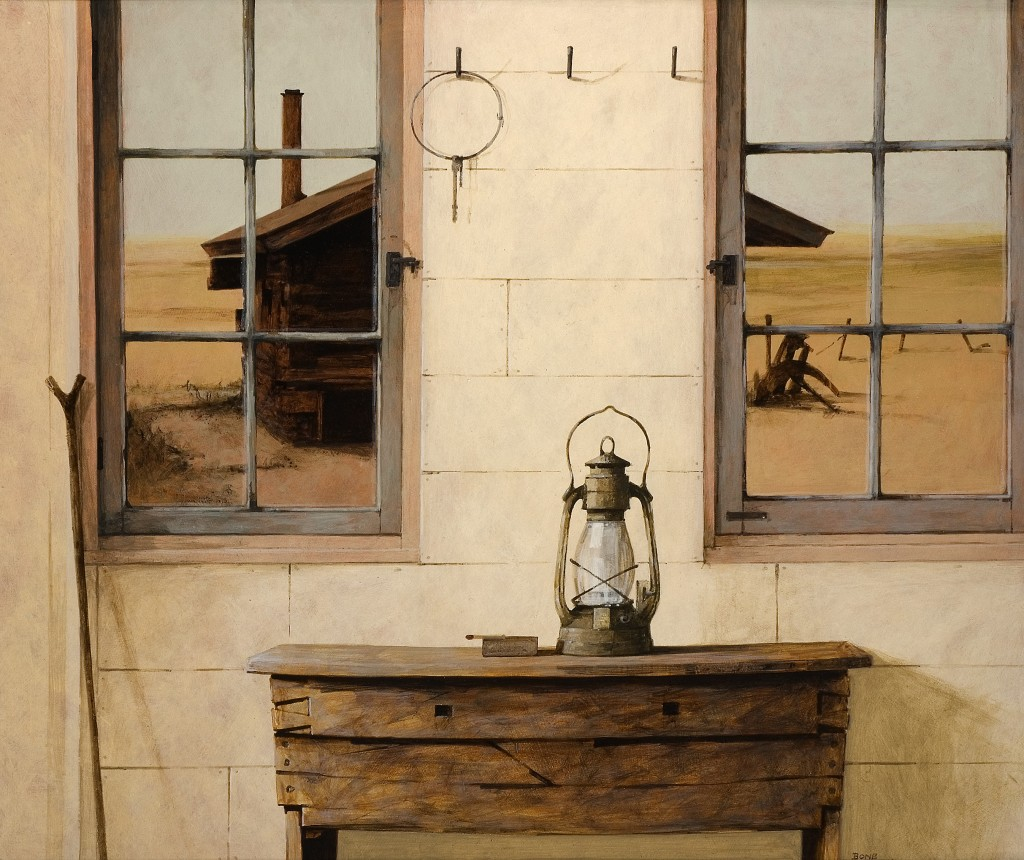 The Lamp, 2005 (acrylic on board), Ron Bone (1950-2011) / Private Collection / Bridgeman Images