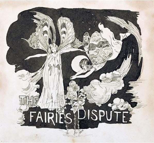 colouring-book-fairies-dispute-illustration