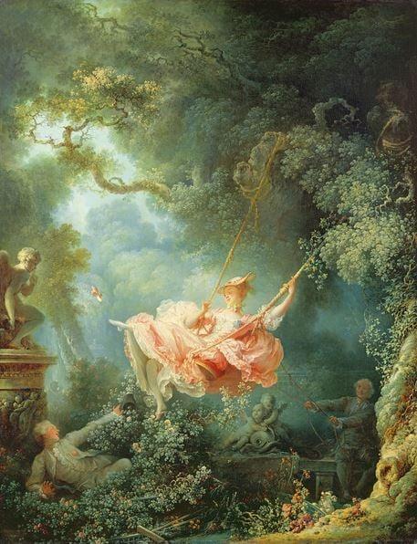 The Swing (Les Hasards heureux de L'Escarpolette), 1767 (oil on canvas), Jean-Honore Fragonard (1732-1806) / Wallace Collection, London, UK