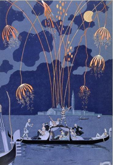 georges-barbier-venice-fireworks-illustration-gondola