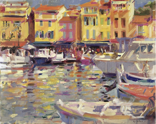 Harbour at Cassis (oil on canvas), Graham, Peter (Contemporary Artist) / Private Collection