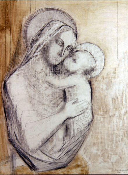 Madonna and Child/ 1953 by Barbara Hepworth / Private Collection / Photo Credit: Peter Nahum, The Leicester Galleries, London