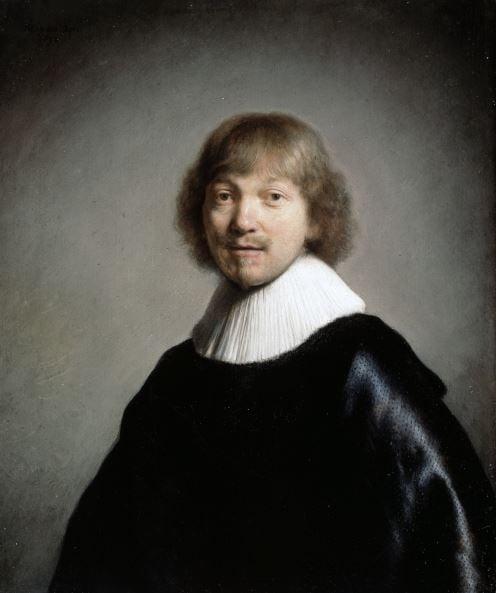 Jacob III de Gheyn (oil on panel) by Rembrandt Harmensz van Rijn/ Dulwich Picture Gallery, London, UK