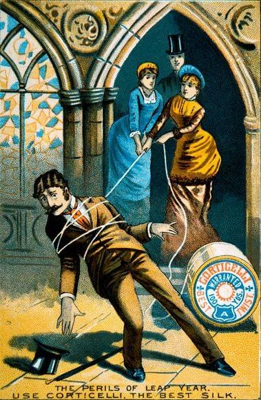 leap-year-perils-postcard-vintage