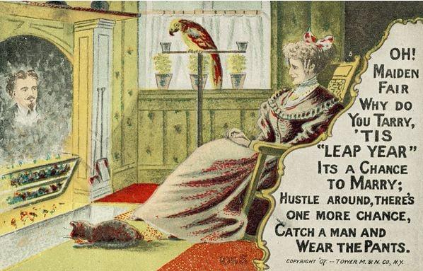 leap-year-vintage-postcard