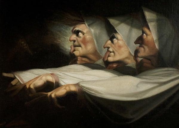 'Macbeth', Act I, Scene 3, the Weird Sisters, c.1783 (oil on canvas)