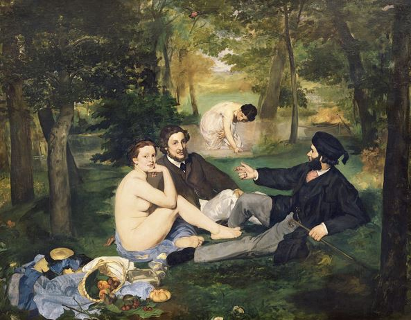 Dejeuner sur l'Herbe, 1863 (oil on canvas) (see also 65761), Edouard Manet (1832-83) / Musee d'Orsay, Paris, France
