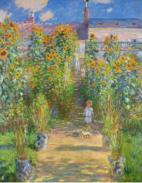 The Artist's Garden at Vetheuil, 1880 (oil on canvas), Claude Monet (1840-1926) / National Gallery of Art, Washington DC, USA
