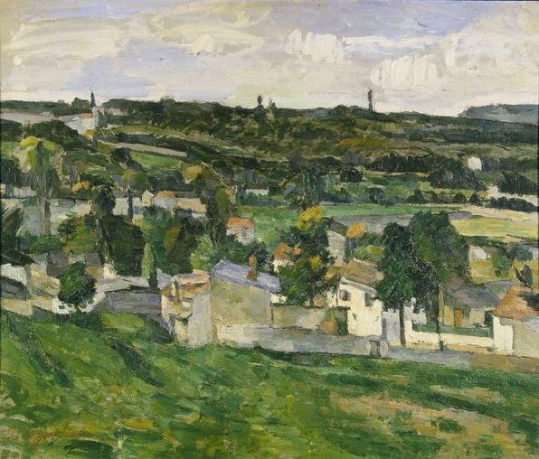 Auvers-sur-Oise (oil on canvas) by Paul Cezanne/ Ashmolean Museum, University of Oxford, UK