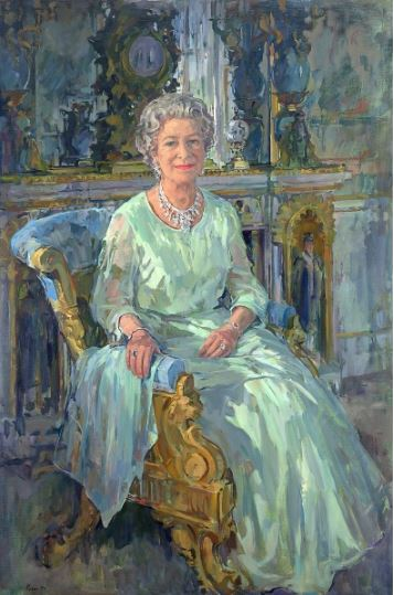 Her Majesty the Queen, 1996 (oil on canvas), Ryder, Susan / Royal Automobile Club, Pall Mall, London