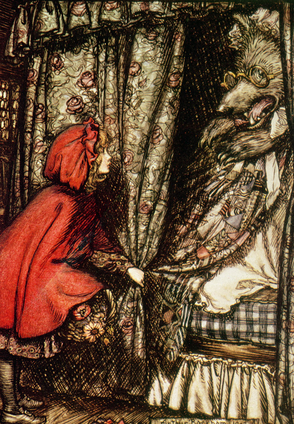 Little Red Riding Hood, Arthur Rackham (1867-1939) / Private Collection