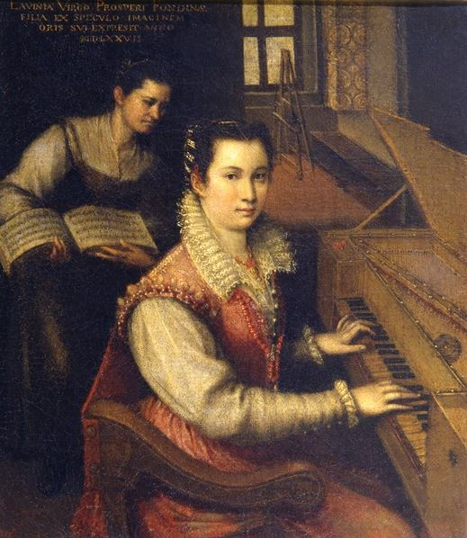 Self Portrait at the Spinet, 1578 by Lavinia Fontana (1552-1614) / Accademia di San Luca, Rome, Italy