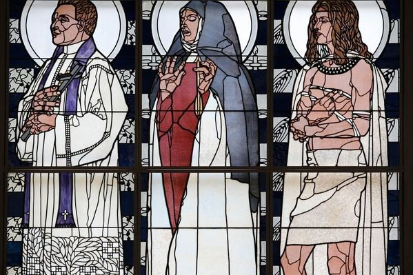 Am Steinhof church (church Leopld), Stained glass by Koloman Moser (photo) / Godong/UIG / Bridgeman Images