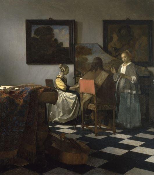 The Concert, c. 1658-60 (oil on canvas) by Jan Vermeer/ Isabella Stewart Gardner Museum, Boston, MA, USA