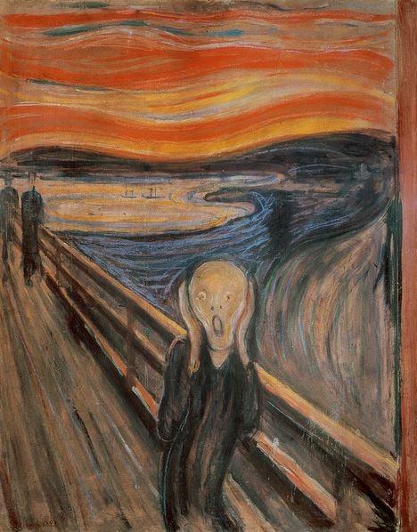 The Scream, 1893 (oil, tempera & pastel on cardboard), Munch, Edvard (1863-1944) / Nasjonalgalleriet, Oslo, Norway