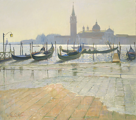 Venice at Dawn (oil on canvas), Easton, Timothy / Private Collection