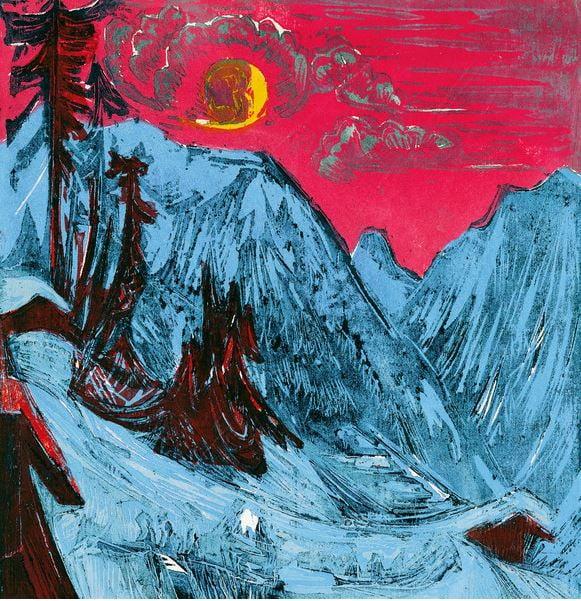 winter-moonlit-night-ernst-ludwig-kirchner