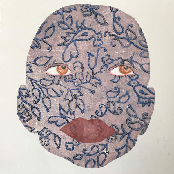 illustration image of a face covered with tattoos Tattoo, 2020,(ink print), Thompson-Engels, Sarah  Private Collection  © Sarah Thompson-Engels  Bridgeman Images 6219409