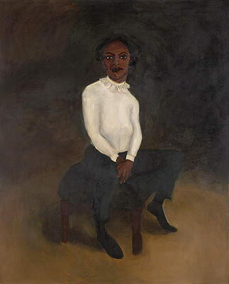Obelisk, 2005 (oil on canvas), Lynette Yiadom Boakye (b.1977) / Private Collection / Photo © Christie's Images / Bridgeman Images
